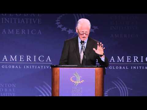President Clinton announces a commitment by Energy Infrastructure Partners