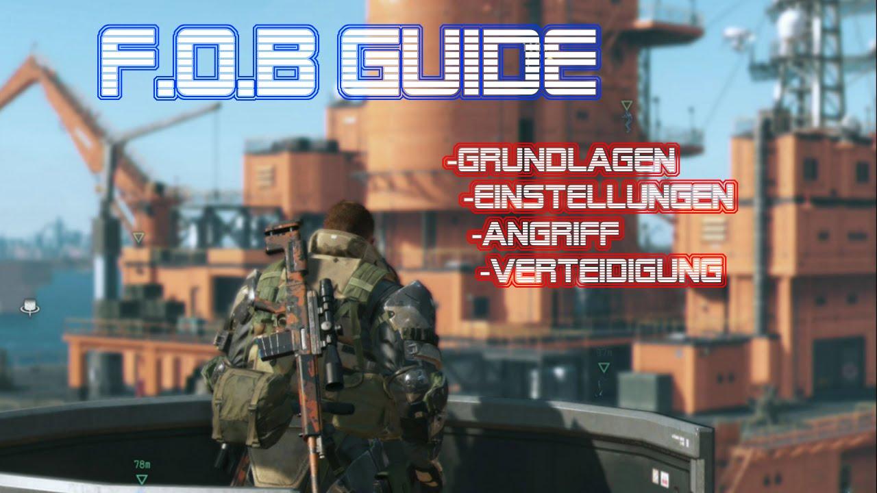 Metal Gear Solid 5 The Phantom Pain Fob Guide Germandeutsch