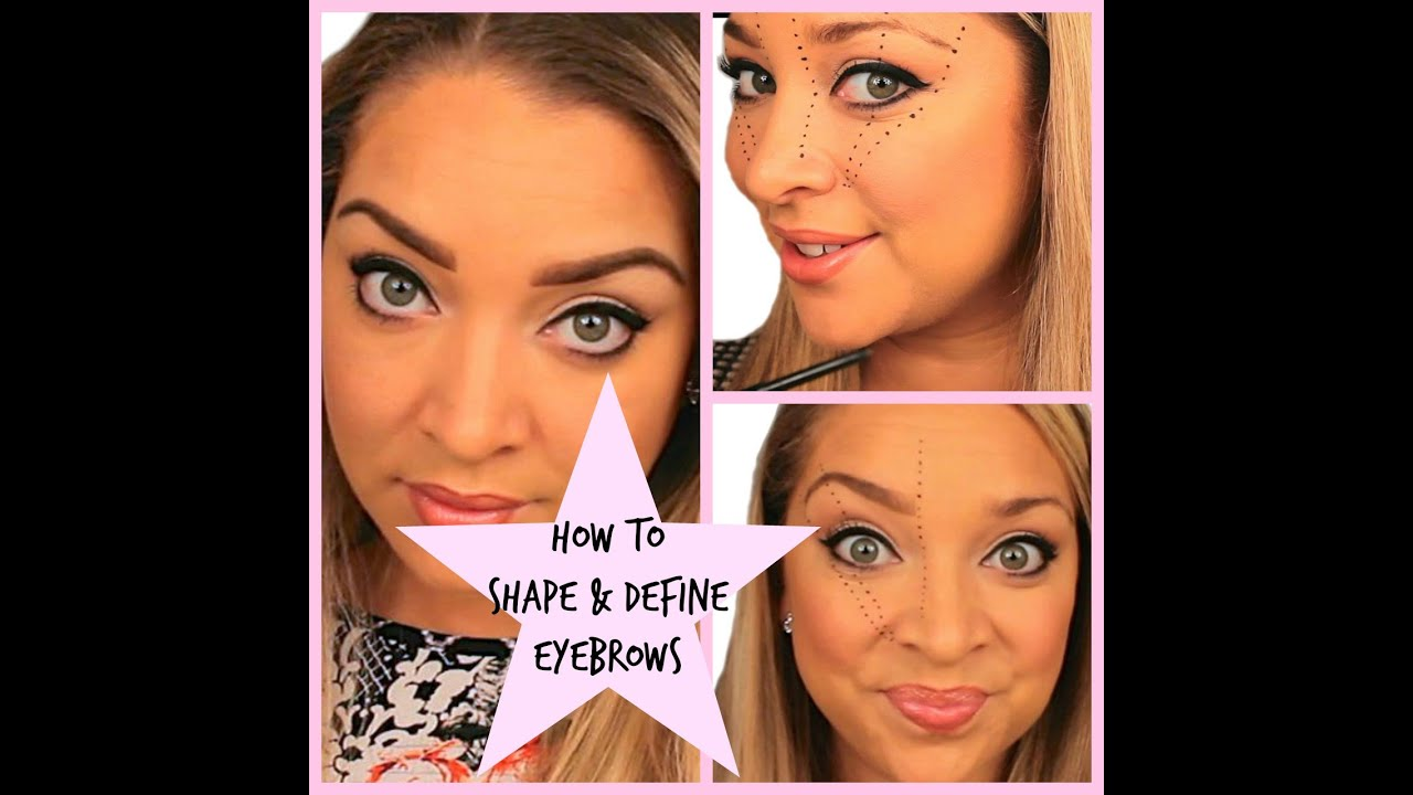 Tutorial How To Apply Makeup On Eyebrows To Shape Define Youtube