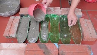 Plastic Bottles And Cement - Ideas Making Cement Flower Pots At Home For You