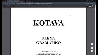 ☀️☀️☀️ rapida superrigardo de la gramatika Lernolibro…( esperanto kotava )