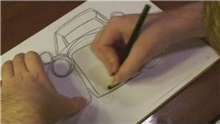 How to Draw Vehicles : How to Draw a Car Coming Towards You