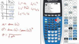 Erstellen Sie eine Wahrscheinlichkeitsverteilung Diagramm gegeben P(x) (Prob. 9, Teil 2) TI-84 Statistiken