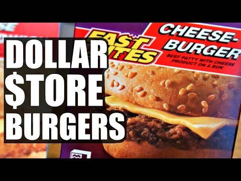 $1 DOLLAR STORE BURGER Taste Test