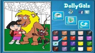 Colorindo DORA e os Seus AMIGOS JOGOS   DORA coloring and His FRIENDS GAMES