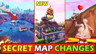 LA CARTE SECRÈTE FORTNITE ' NEW' CHANGE ! LOOT LAKE GATE - NOUVEAU BURGER DURR! UPDATE v8.4 (OVNI/DIGSITE STORY)