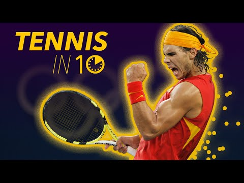How to Play Tennis in 10 MINUTES Forehand, Backhand, Serve Lesson