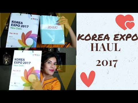 KOREA EXPO HAUL 2017 (ENGLISH)| DELHI |ASIAN BEAUTY PRODUCTS | KOREAN SKINCARE HAUL | BEST SKINCARE