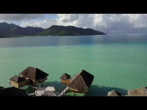 Le Taha'a  Island Resort & Spa, French Polynesia, Tahiti, via drone