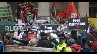 LIVE: Protesters rally in London in support of Palestine