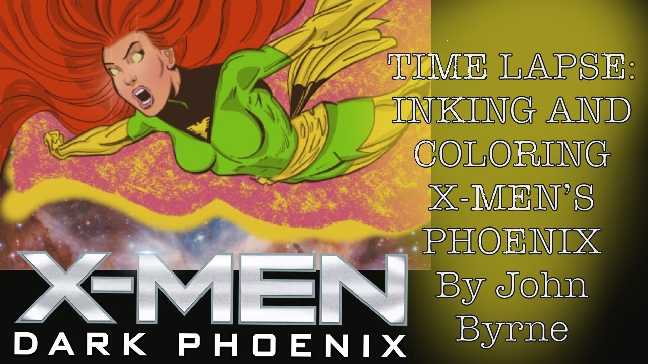 Time Lapse: Inking and coloring John Byrne's Phoenix Art