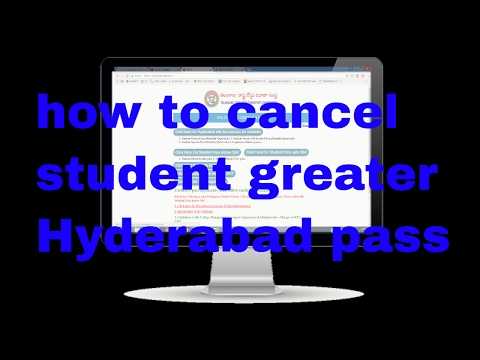 How to cancel student greater Hyderabad pass