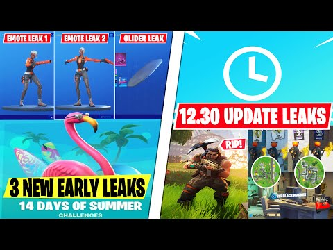 NEW 14 Days Of Summer Early LEAKS! (Ride On Glider + 2 New Synced Emotes) 12.30 Update, Deadpool Bug