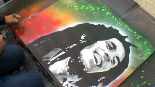 Top 5 AMAZING Spray Paint Art Time Lapse Videos || COOL