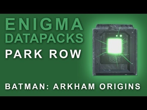 Batman Arkham Origins: Enigma Datapacks Park Row Locations Guide for Extortion Files 1-2