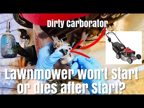 How To Remove and clean Carburetor on a HONDA Lawnmower Won't Start Fix Smart Drive Self Propelled