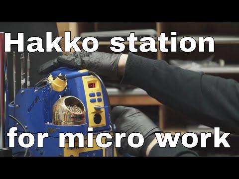 Hakko FM-2032/FX-951 review, micro pencil soldering iron & station.