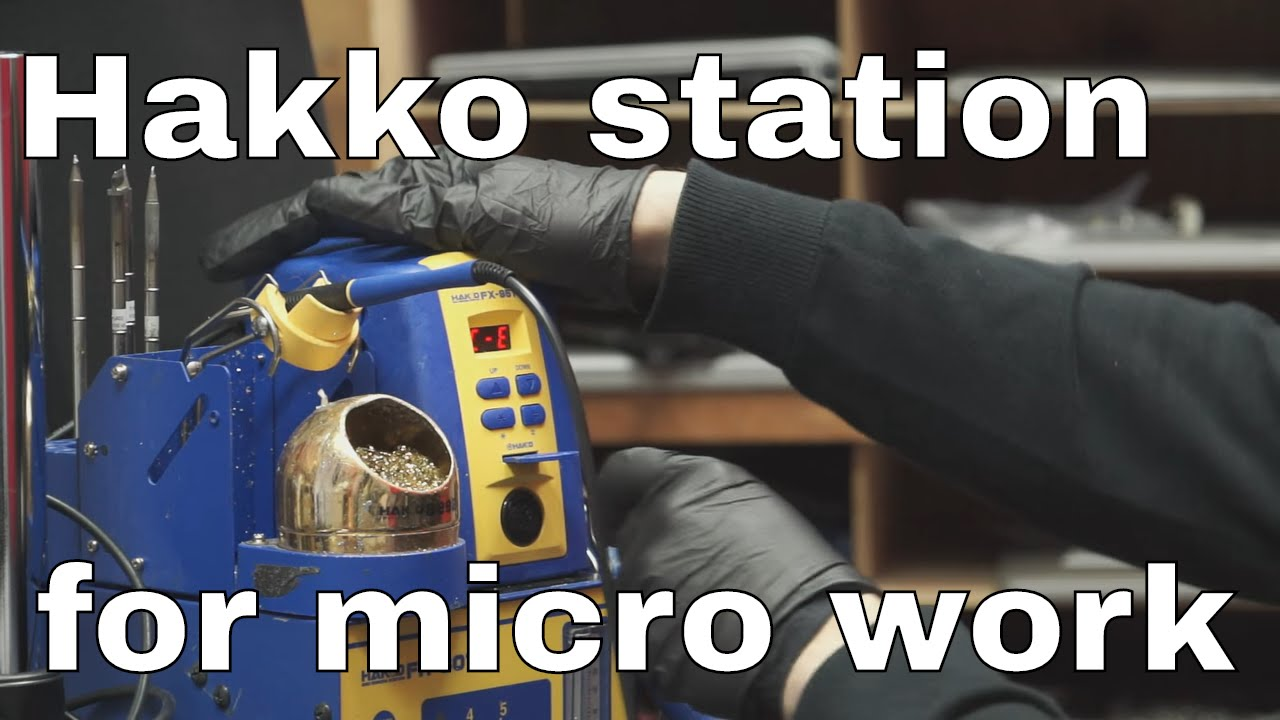 hakko fm 2032 fx 951 review micro pencil soldering iron station youtube. Black Bedroom Furniture Sets. Home Design Ideas