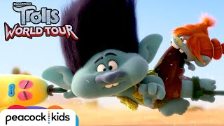 TROLLS WORLD TOUR | Pop Trolls Escape Lonesome Flats [Official Clip]