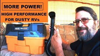 High Performance Vacuum For The Dusty RV - Controlling Dust in the Desert With a Powerful Shop-Vac