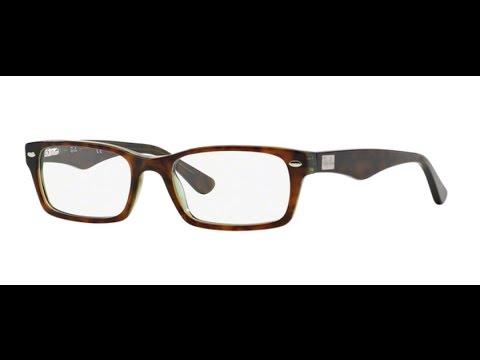 03a526fdd55 Ray Ban 5206 Eyeglasses 2445 Havana Green - YouTube