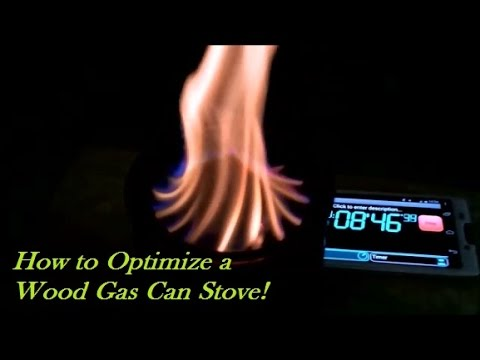 How to Optimize a Wood Gas Stove! Wood Gas Stove Science!