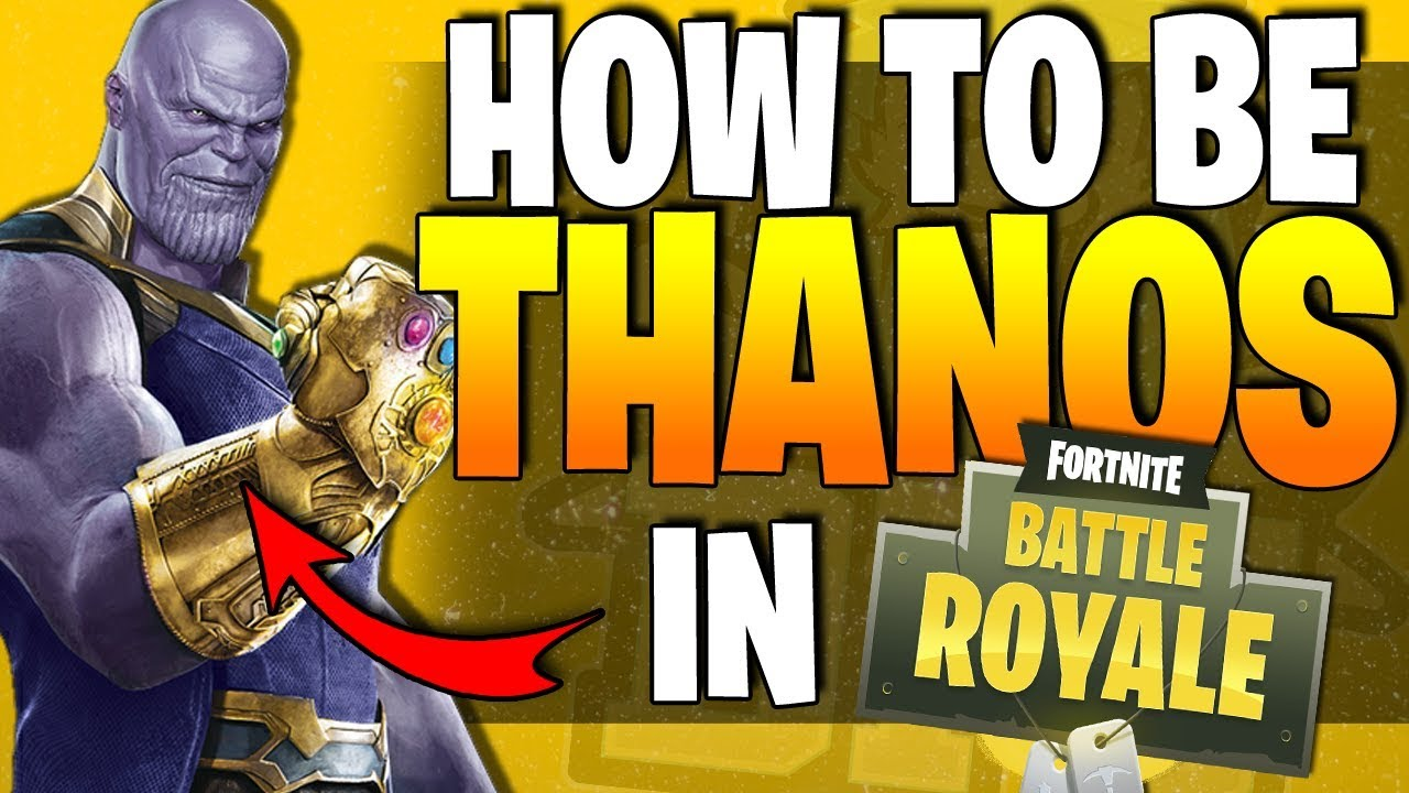 Fortnite - How To Be THANOS - Avengers Battle Royale Cross Over - NEW Limited Time Mode! All Details