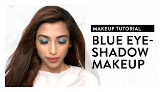 Makeup Tutorial l How to pull off blue eyeshadow