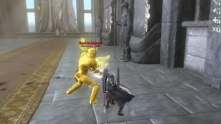 Skyrim - Dovahkiin VS Auroran Boss(Vigilant Quest Mod)