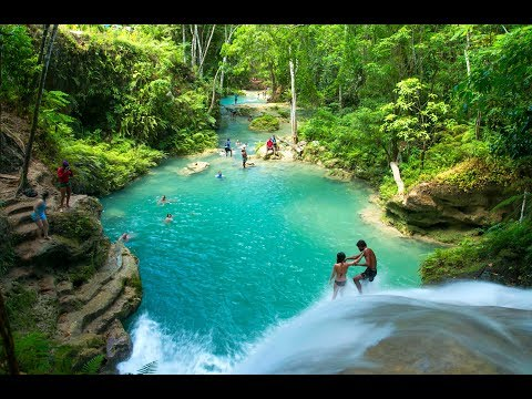 MUST SEE WATERFALLS IN JAMAICA PART 1 - Travel Guide Video Slideshow with music