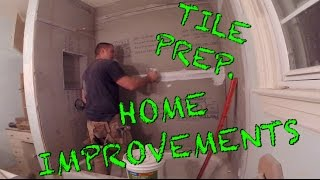 Home Improvement - Tile Prep., Shower - Part 6 Of 8