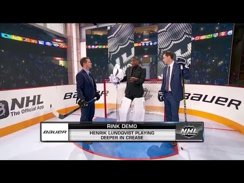 Bauer Rink Demo:  Henrik Lundqvist has been playing deeper in the crease  Dec 10,  2018