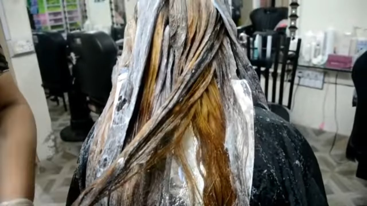 Hair color cut down and coloring tutorial in urdu  METALLIC HAIR TUTORIAL  nazia khan