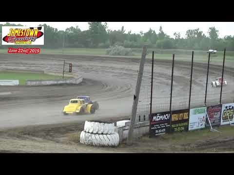 Jamestown Speedway INEX Legend Heats (6/22/19)