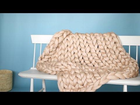 Arm-Knit Throw Blanket - Martha Stewart