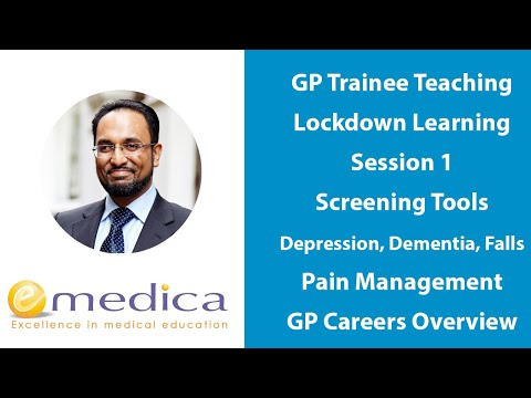 GP Trainee Teaching - Lockdown Learning 1: Screening Tools, Pain Management, GP Careers