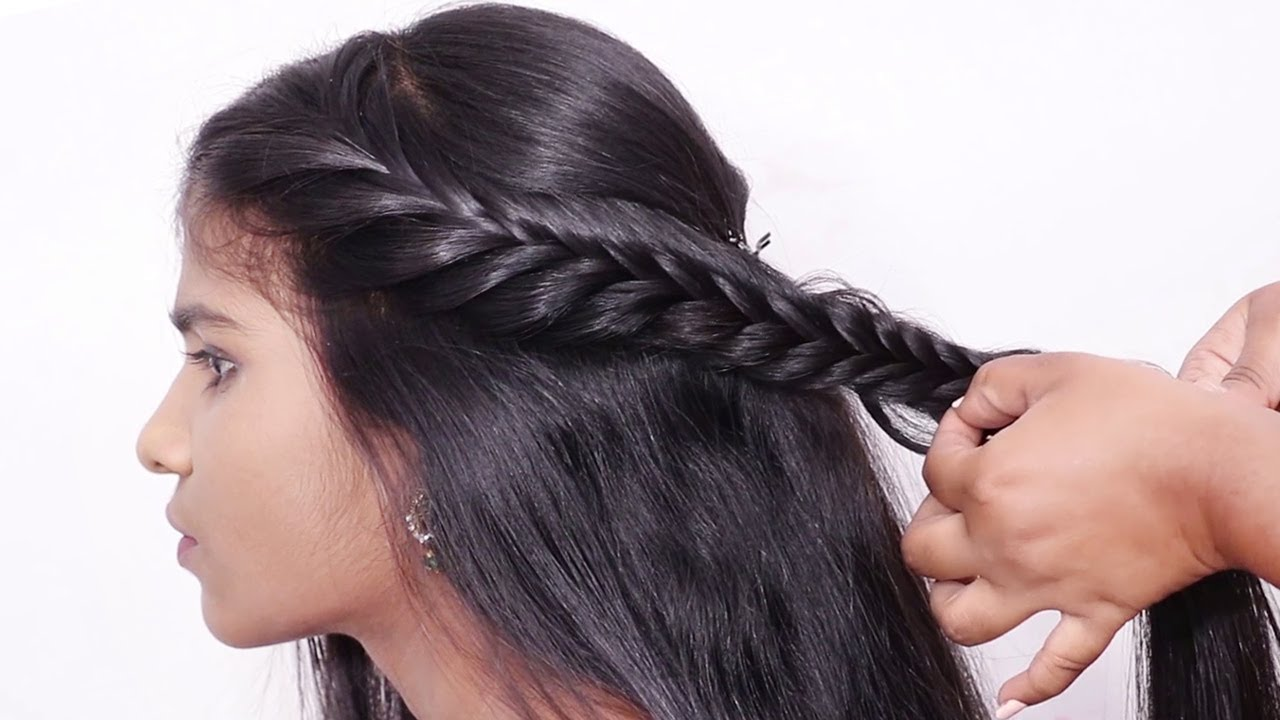 Beautiful Side french Braid Hairstyle | Hairstyle for College Girls | Cute French Braid Hairstyles