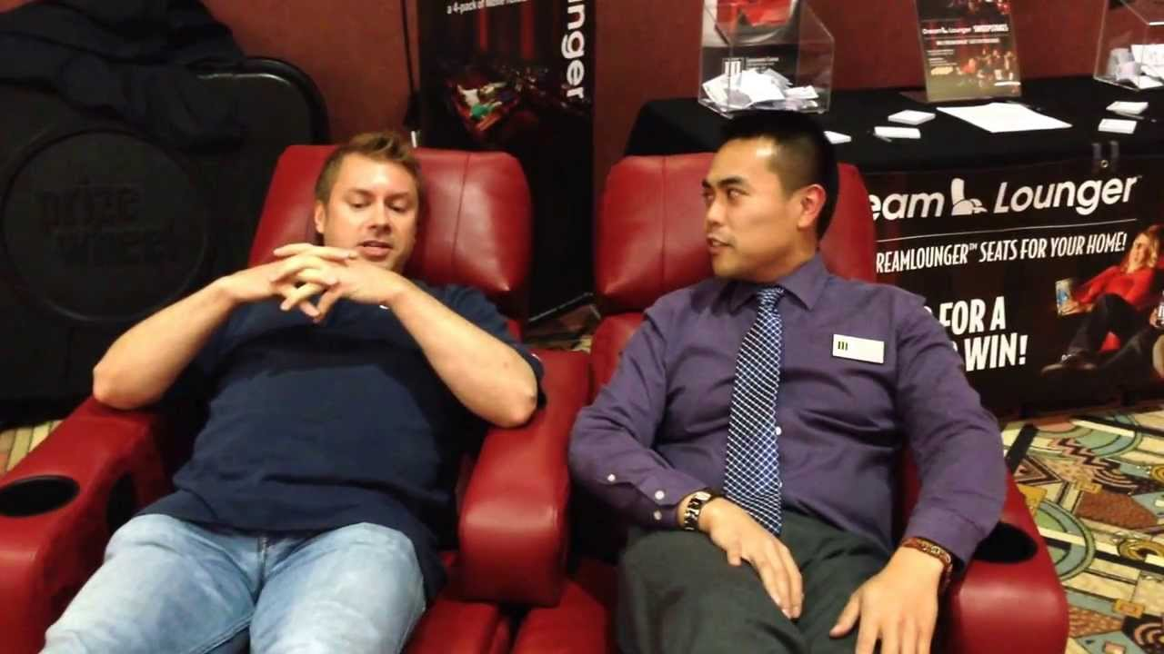 WNCI\u0027s Chris Davis at Marcus Crosswoods Cinema for Dream Loungers  sc 1 st  YouTube : dream lounger recliner - islam-shia.org