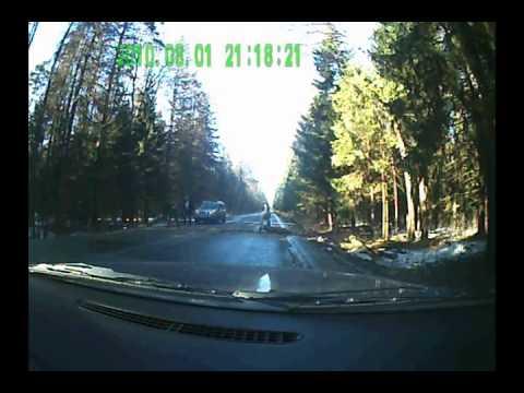 На дорогу упало дерево