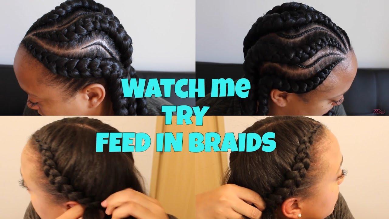 Hair Styles Feed In Braids: DIY Ghana/Feed In Braids On YOURSELF?