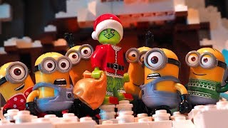 Grinch and Minions - Lego Stop Motion