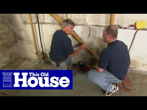 how to repair a crack in a concrete foundation this old house youtube - Fixing Foundation Cracks