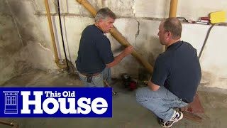 How to Repair a Crack in a Concrete Foundation | This Old House