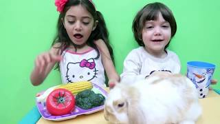 Pretend Play with Food Vegetables - Johny Johny yes papa Nursery Rhymes Song for children!