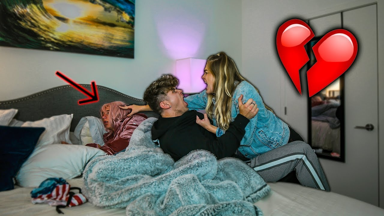 Caught Cheating In My Girlfriends Bed Prank - Youtube-3505