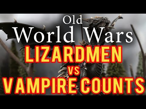 Vampire Counts vs Lizardmen Warhammer Fantasy Battle Report - Old World Wars Ep 267