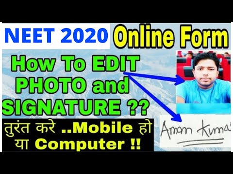 NEET 2019: Resize Photo & Signature in NEET 2019 online Application Form Mp3