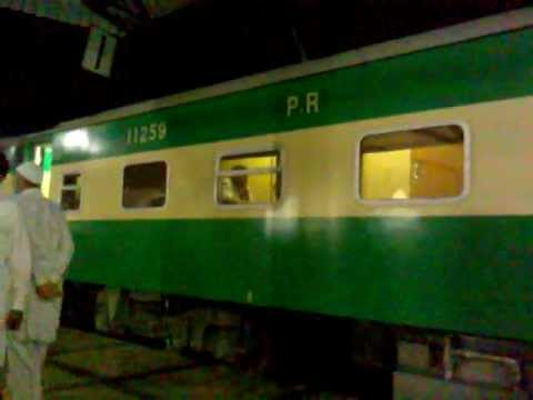 Karakoram Express Train at Hyderabad International Railway Station Sindh PAK