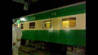 Karakoram Express Train at Hyderabad International Railway Station Sindh PAK