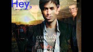 Ayer - Voz de Mando Ft Enrique Iglesias [Letra]